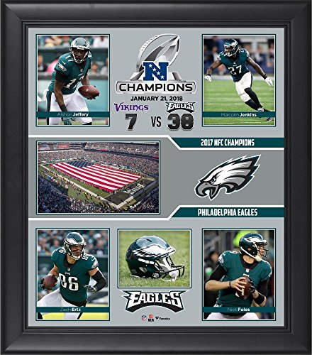 (Philadelphia Eagles 2017 NFC Champions Framed 15'' x 17'' Collage - NFL Team Plaques and Collages )