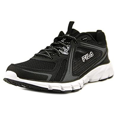 449df7950eb12 Amazon.com | Fila Women's Threshold 2 Running Sneakers, Black Faux ...