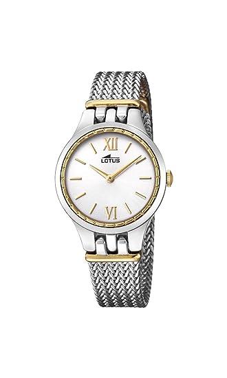 Lotus Watches Reloj Análogo clásico para Mujer de Cuarzo con Correa en Acero Inoxidable 18447/1: Lotus: Amazon.es: Relojes