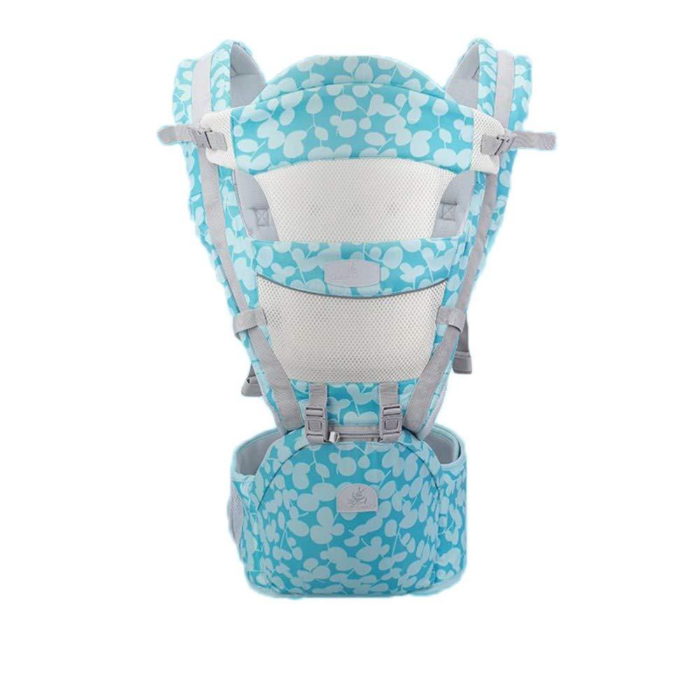 Atmungsaktive Multifunktions-Babytrage bis zu 3 Jahren (10-50 lbs), ergonomische Tragepositionen, Himmelblau
