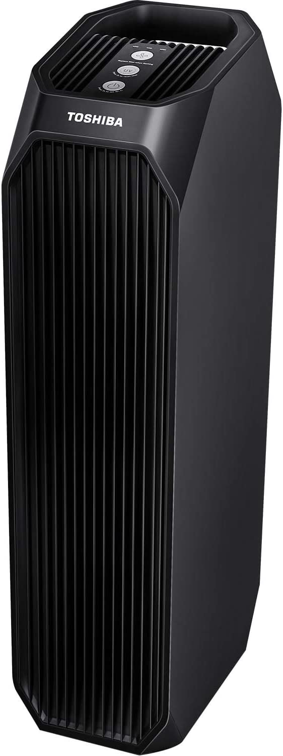 Toshiba WiFi Alexa Feature Smart Wi-Fi HEPA Air Purifier, 26'', Black