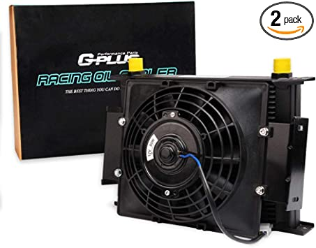 """30 ROW ENGINE//TRANSMISSION OIL COOLER 7/"""" ELECTRIC FAN"""