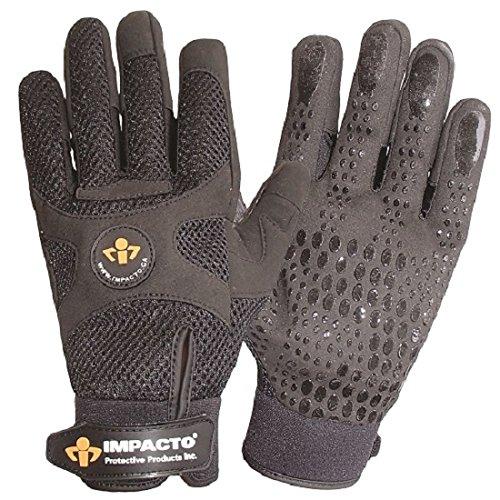 Impacto BG40860 Anti-Vibration Mechanic's Air Glove, Black