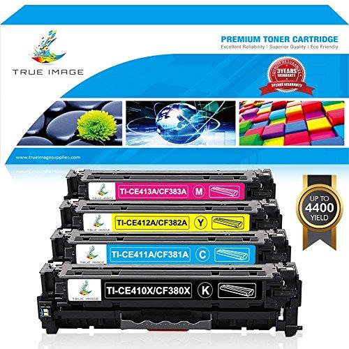 (TRUE IMAGE 4packs 305X CE410X Compatible HP 305X CE410X 305A CE410A 312X 312A CF380X CF380A Toner for HP Laserjet Pro 400 Color M451dn M451nw M475dn HP Laserjet Pro MFP M476nw M476dn M476dw M375nw)