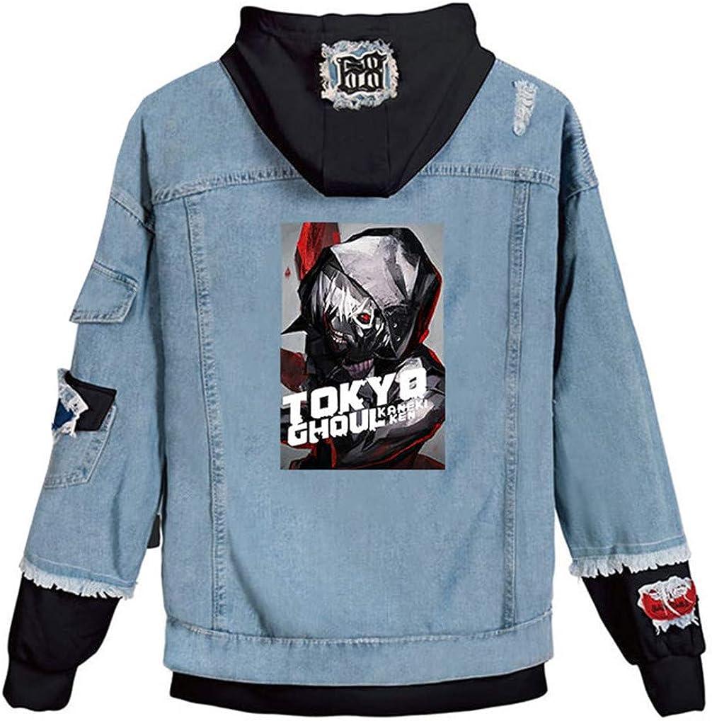 Gumstyle Anime Tokyo Ghoul Kaneki Ken Denim Hoodie Jacket Adult