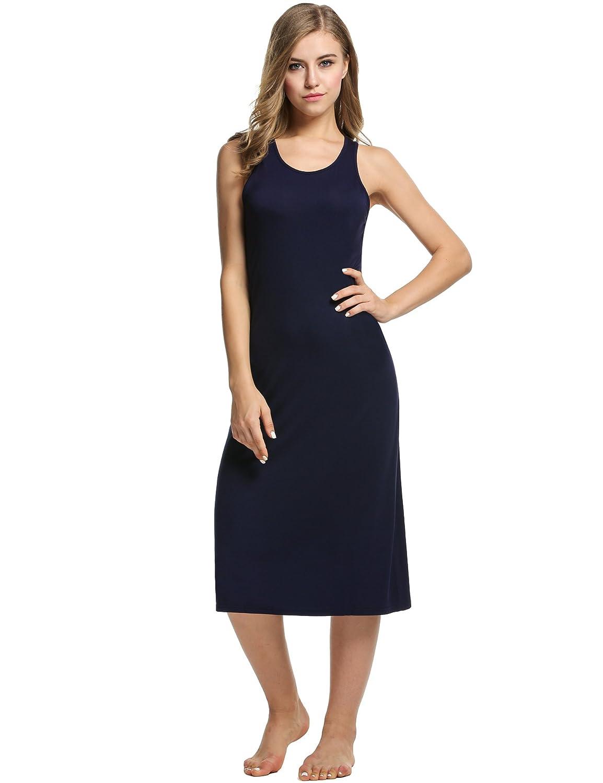 81f74e3d Avidlove Womens Cotton Gown Sleeveless Nightshirt Sleepwear Racerback  Bodycon Dress: Amazon.co.uk: Clothing