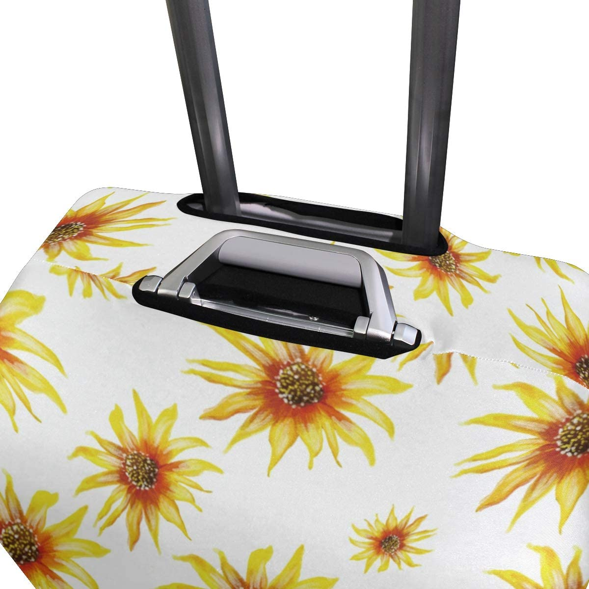Travel Luggage Cover Seamless Yellow Sunflowers Pattern Suitcase Protector