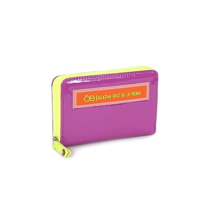 52d7c222bbf Billetera en color morado cierre sencillo con diseño de agatha ruiz de la  prada - Cloe
