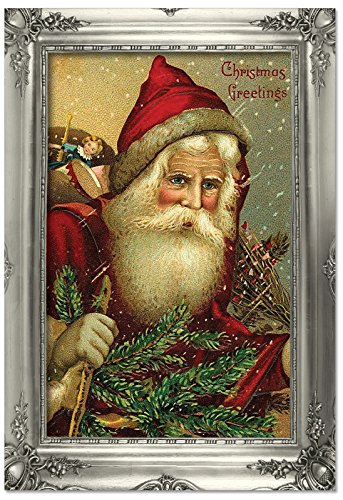 B1746DXSG Box Set of 12 Picture-Perfect Santas Christmas Greeting Cards with ()