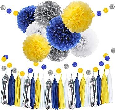 Amazon.com: 30 piezas de pompones de pañuelo, color amarillo ...