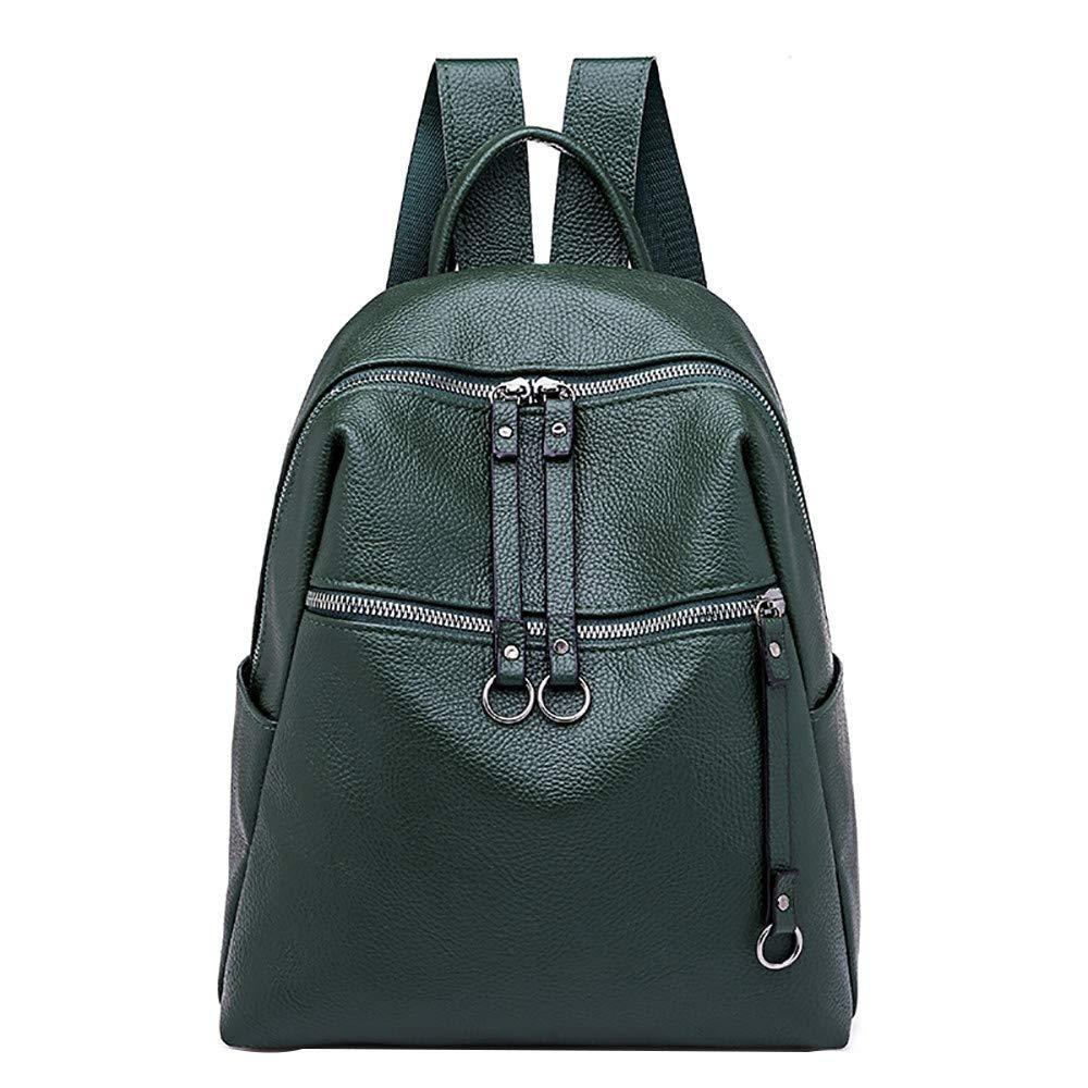 Women Backpack Tide Bag Wild Soft Leather Student Bag Simple Backpack