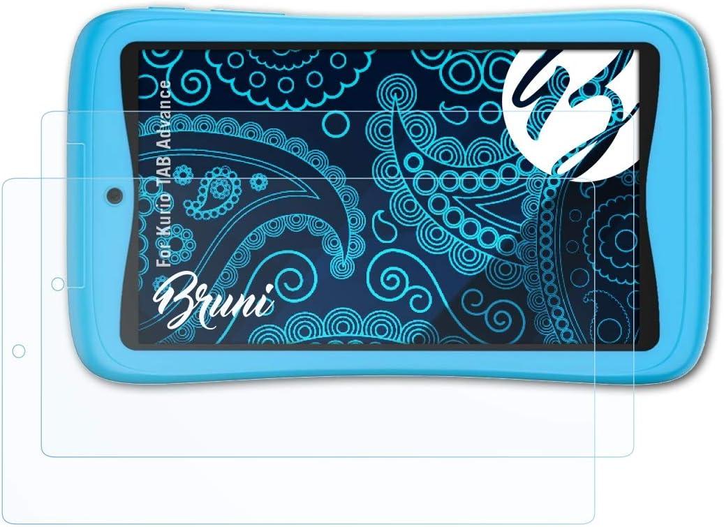 Bruni Película Protectora Compatible con Kurio Tab Advance Protector Película, Claro Lámina Protectora (2X)