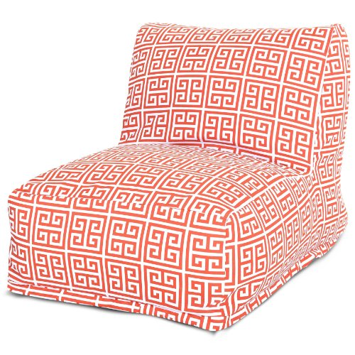 Majestic Home Goods Towers Bean Bag Chair Lounger, Orange by Majestic Home Goods
