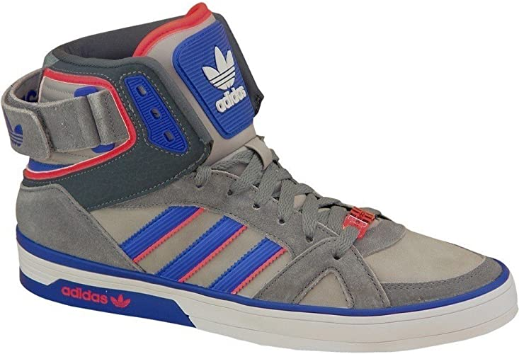 adidas Space Diver Chaussures Mode Sneakers Homme Cuir Gris Bleu