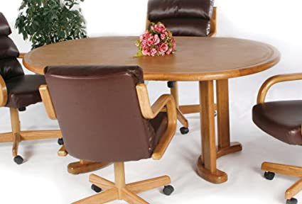 Image Unavailable & Amazon.com - Dining Table with Laminate Top Natural Oak Finish - Tables