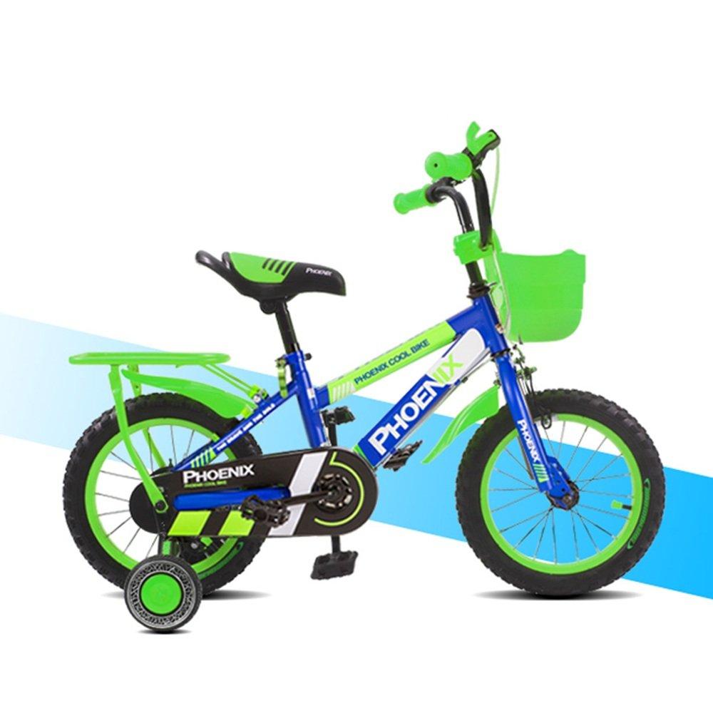 HAIZHEN マウンテンバイク 12インチの子供の自転車の男の子の子供の自転車の自転車のおもちゃの自転車オレンジのトレーニングホイールのフェンダー 新生児 B07C6R79QX Green -12 inch Green -12 inch