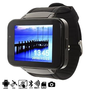 DAM TEKKIWEAR. SMARTWATCH Android con Pantalla PANORÁMICA, CÁMARA Y GPS.4,2x1,3x6 cm. Color: Negro: Amazon.es: Electrónica