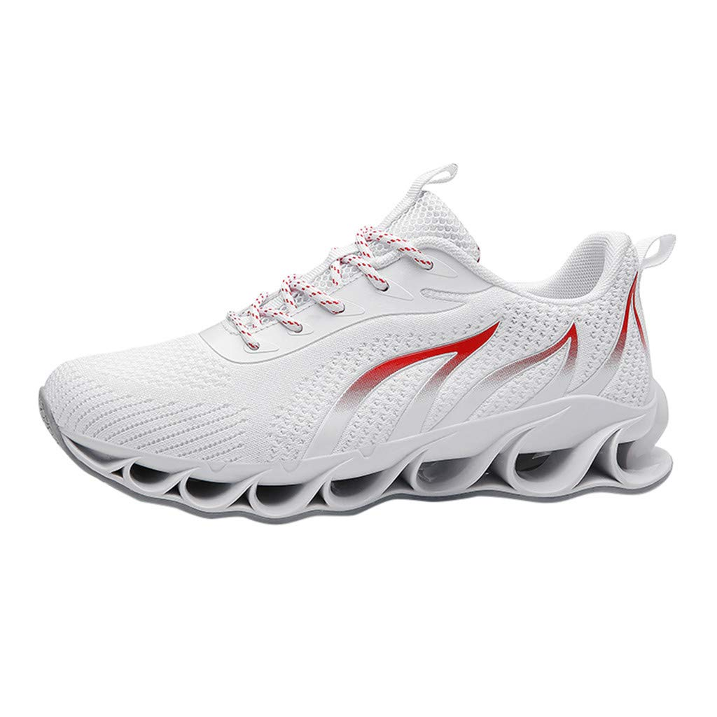 【MOHOLL】 Men Fashion Shoes Sneakers Mesh Blade Athletic Running Walking Shoes White by ✪ MOHOLL Shoes ➤Clearance Sales