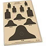"Rite in the Rain All-Weather 25 Meter Target, 17"" x 22"", Tan, M16A1 / 25 Meter Alt C Record Fire Qualification, 10 Sheet Pack (No. 9127X)"