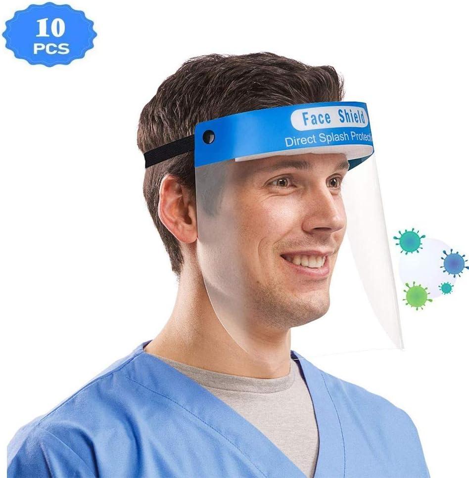 DyAn La Seguridad Pantalla Facial Anti-Saliva Tapas Protectoras, Gorra de béisbol con Cubierta Protectora de la Prueba de Polvo Sombrero de Sol al Aire Libre, Unisex