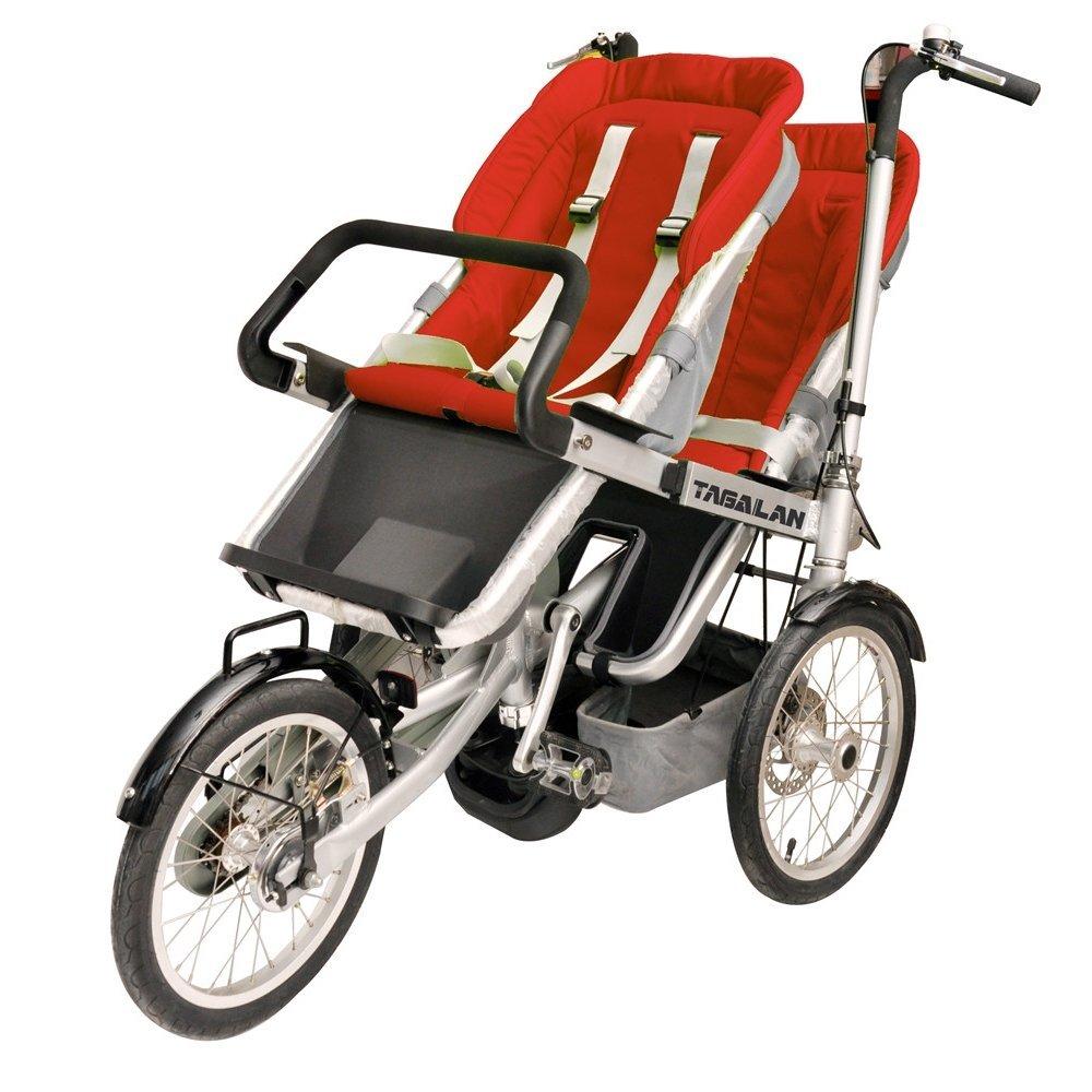 3 Ruedas Madre Bebé Cochecito 2 asientos plegable para paseo ...