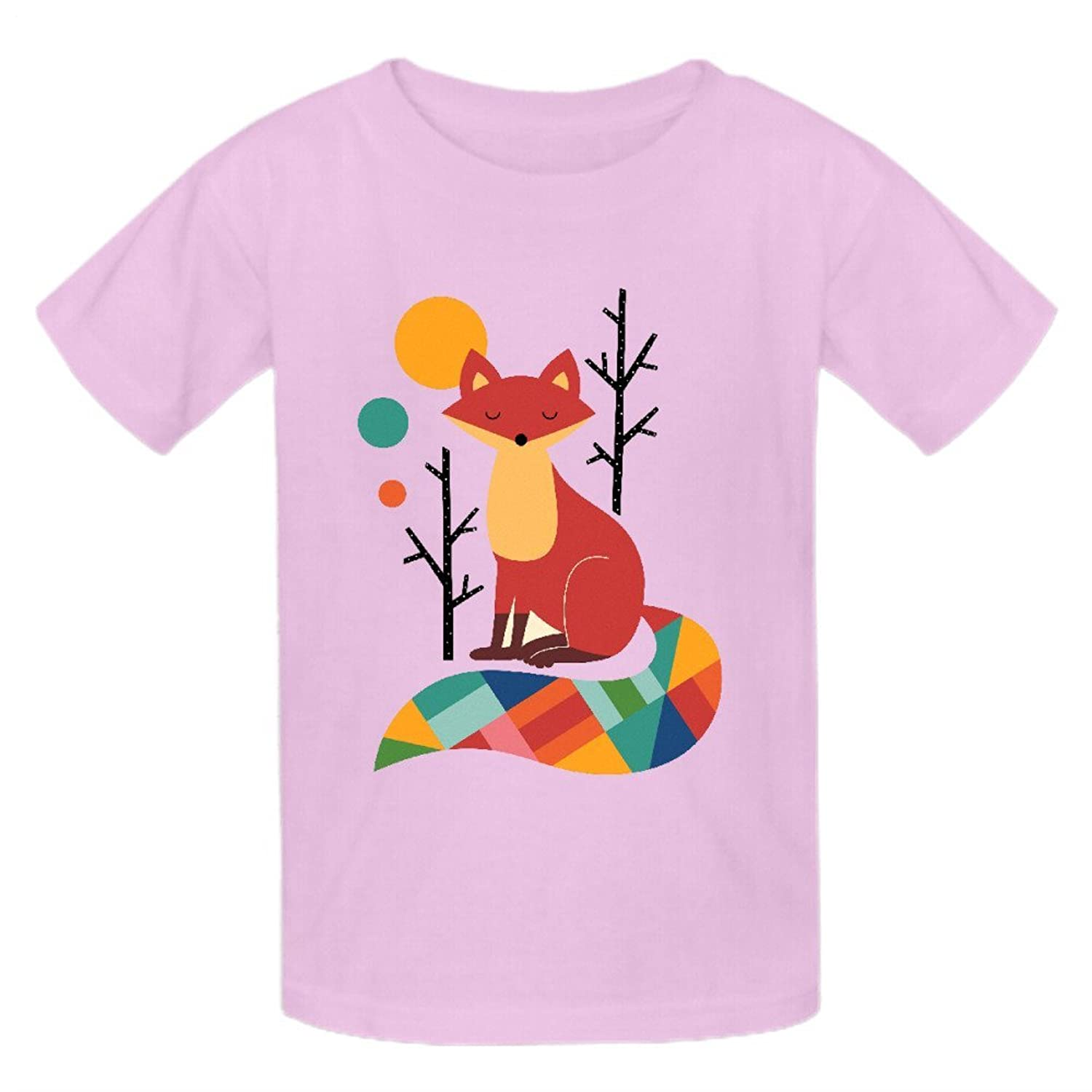 Abover Rainbow Fox Kids Personal Round Neck T Shirt