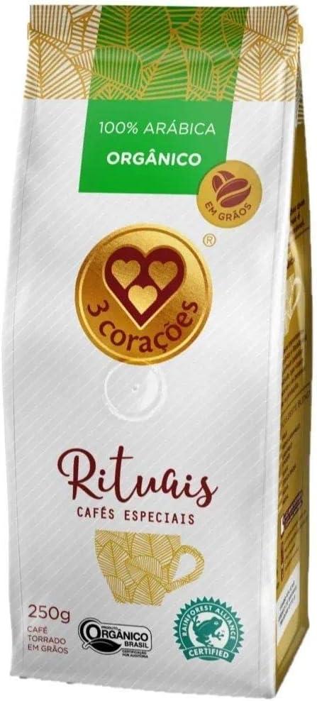 Café, Torrado e Moído, Rituais Orgânico, Pacote, 250g, 3 Corações