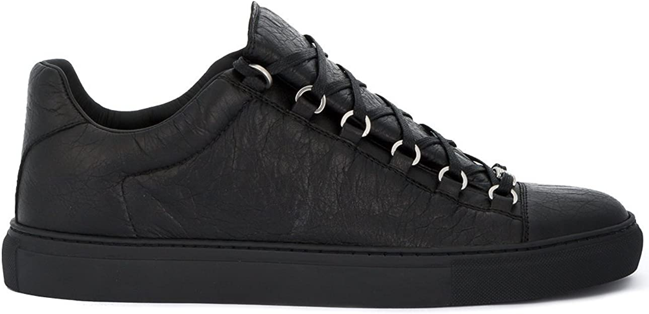 accesorios Acostumbrarse a novato  Balenciaga Herren 483494WAY401000 Schwarz Leder Sneakers: Amazon.de: Schuhe  & Handtaschen