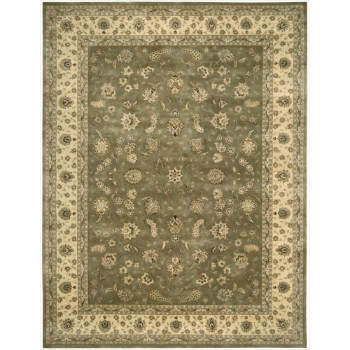 Nourison Nourison 2000 (2003) Olive Rectangle Area Rug, 9-Feet 9-Inches by 13-Feet 9-Inches (9'9
