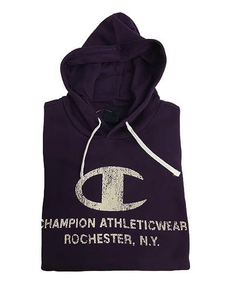 Champion - Sweat-Shirt à Capuche - Homme Violet Aubergine - Violet - Small   Amazon.fr  Vêtements et accessoires 50d9b39cd0f5
