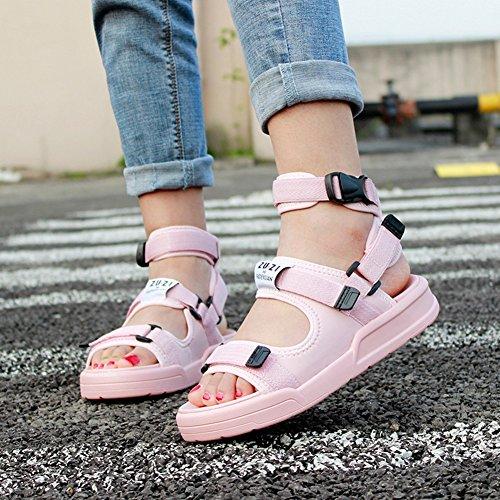 Temporada Usar Ejercicio Formas Mujeres Pink Zapatilla Libre Sandalias Nvxie Zapatos De Casual Grueso Playa Aire Verano Fondo Al Dos nFxXxOqT