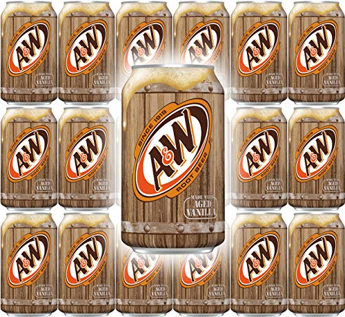 A&W Root Beer, 12 Fl Oz Can, (Pack of 18, Total of 216 Fl Oz)
