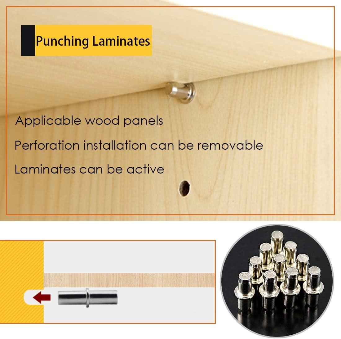 Rustark 120-Pcs 4 Styles Nickel Plated Shelf Pins Bracket Pegs Cabinet Furniture Shelf Pin Support Assortment Kit Perfect for Shelf Holes