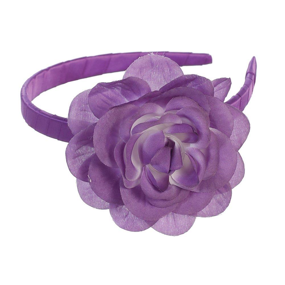 Lito Girls Purple Large Flower Hairband Accessory