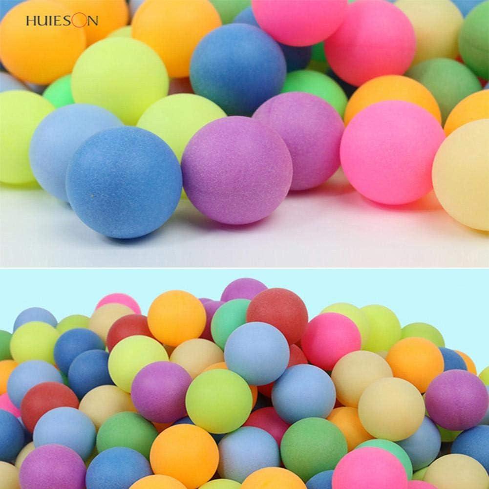 Rikey 100 Piezas de Color 40 mm 2.4 g Entretenimiento Mesa de Colores multipul, Bolas de Ping Pong, Pelota de Tenis de Mesa de plástico para Juegos y Publicidad