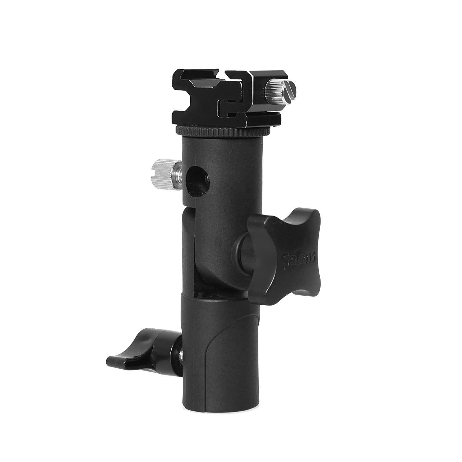 Selens Reflector Clamp Clip Holder Speedlite Hot Shoe Bracket Stand with 1//4 /& 3//8 Screw Adapter for Photo Studio Reflector Light Stand Umbrella Backdrop Stand