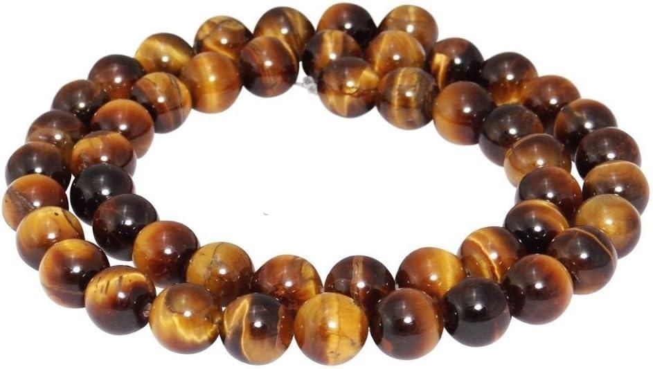 Ojo de tigre Strang perlas 8mm piedra preciosa piedra natural cadena pulsera anillo bola azg70