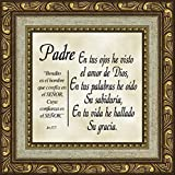 Spanish, Español, Padre, Dad, Father's Day or Birthday Gift, Inspirational, Christian, Bible Verse, Special Occasions, Framed Plaque, Scripture Jeremiah 17:7