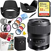 Sigma Art Wide-angle lens 35 mm F/1.4 DG DG HSM for Sony with 67mm Filter Sets and Accessories Bundle