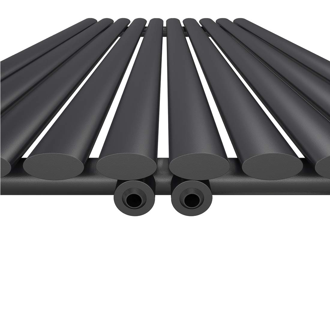 Heizk/örper Design-Heizk/örper Wei/ß Vertikal 1800x480mm Heizung Mittelanschluss Doppellagig