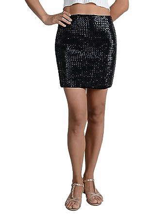 1c12cdaebe070d Anna-Kaci Vegas Night Out Sleek & Sexy Stretch Bandage Sequin Mini Pencil  Skirt,