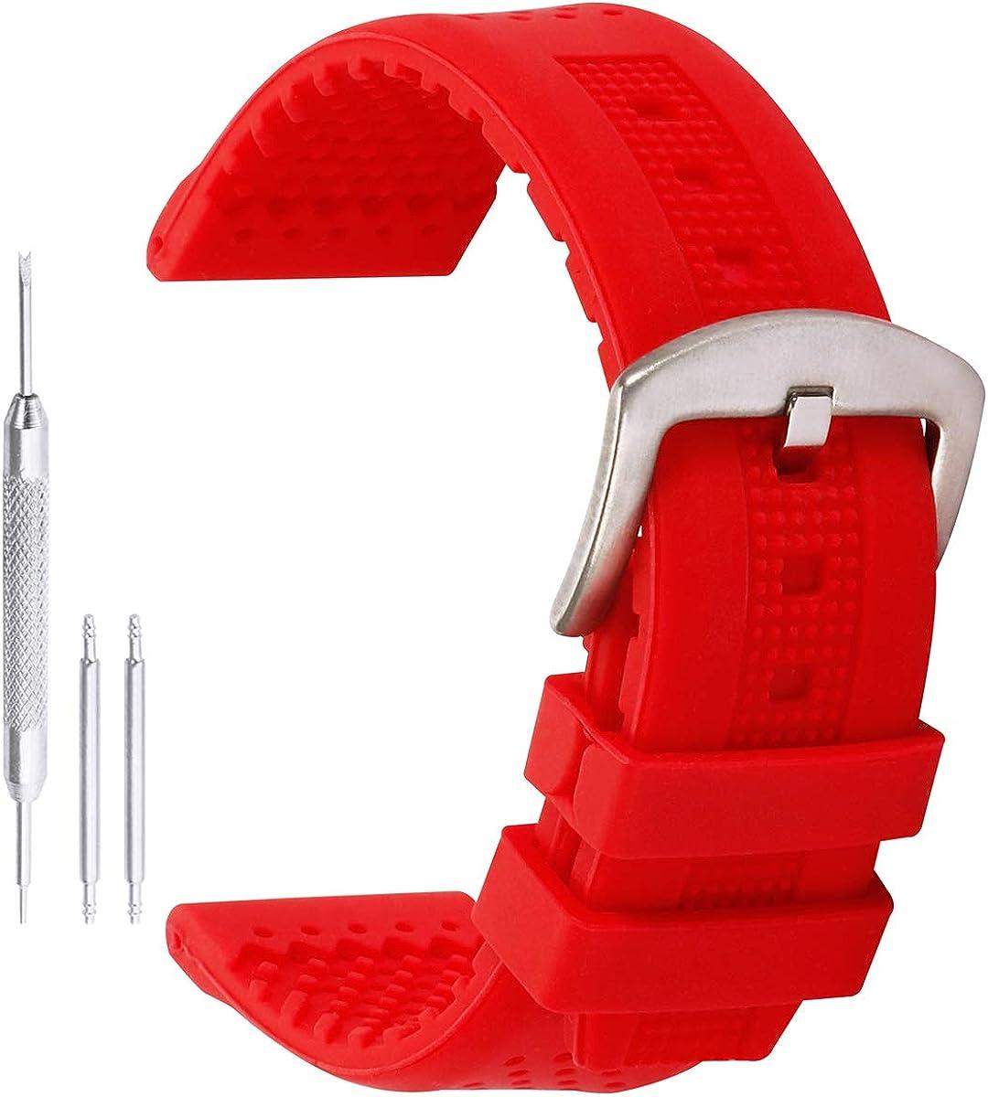Deportes de la Moda Relojes Bandas de Silicona de reemplazo de Caucho Reloj Pulsera Perforada