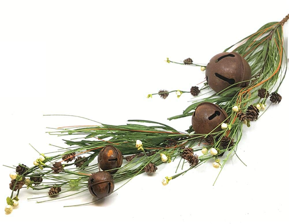 KMI International Holiday Christmas Winter Rustic Jingle Bells Swag 31'' Rusty Primitive Artificial Berry Decorating Twigs by KMI International