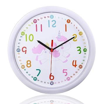 349eaa8e1afc Parateck - Reloj de Pared Infantil (30 cm