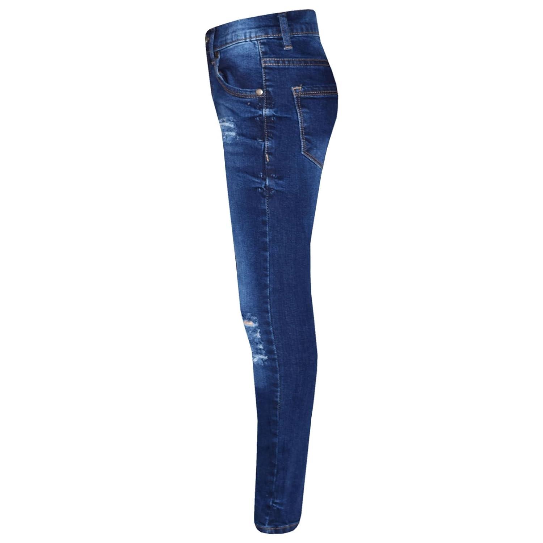A2Z 4 Kids/® Ragazze Elastico Blu Jeans Bambini Strappato Denim Pantaloni Moda Pantaloni Jeggings et/à 5 6 7 8 9 10 11 12 13 Anni