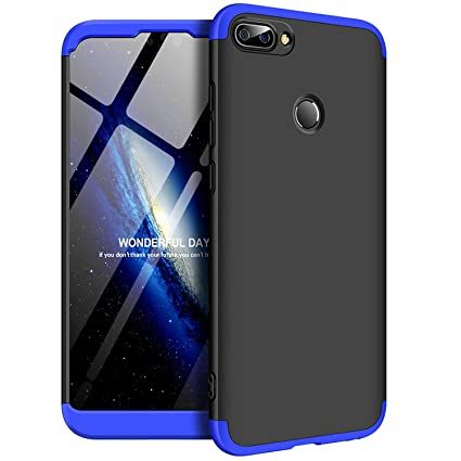 new products c8c9e f45bc Designerz Hub Oppo A5 Cover Case Ull Body 3 in 1 Slim Fit Complete 3D 360  Degree Protection Hybrid Hard Bumper Back Case Cover for Oppo A5 (Black &  ...