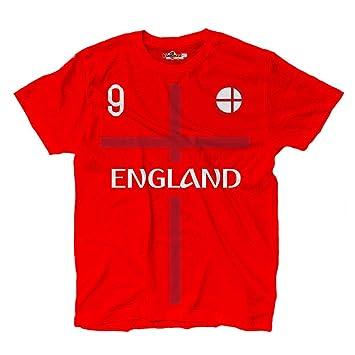 KiarenzaFD Camiseta Camiseta Fútbol Harry Kane Sami Inglaterra 9 Shirts, KTS01873-S-red