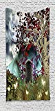 Cotton Microfiber Bathroom Towels Ultra Soft Hotel SPA Beach Pool Bath Towel Forest Mystical Magical Tree Anime Moon Digital Art Wooden Door in the Fairy Garden Blue Red and Brown offers