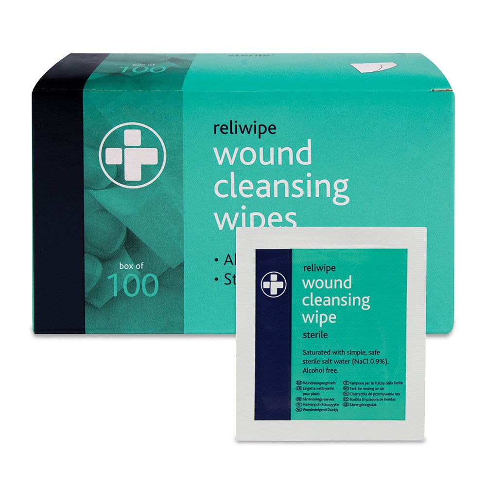 Amazon.com: Reliance Medical Reliwipe Sterile Wound Cleansing Wipes - Pack of 100: Beauty