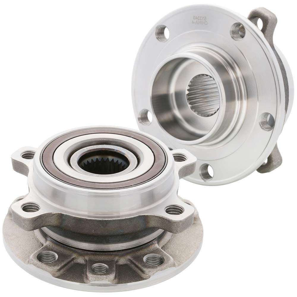 2-Pack//Pair FRONT Driver and Passenger Side Wheel Hub Bearing Assembly for 2014-2019 Jeep Cherokee 513349 Cross Reference: Timken HA590551, WJB WA513349